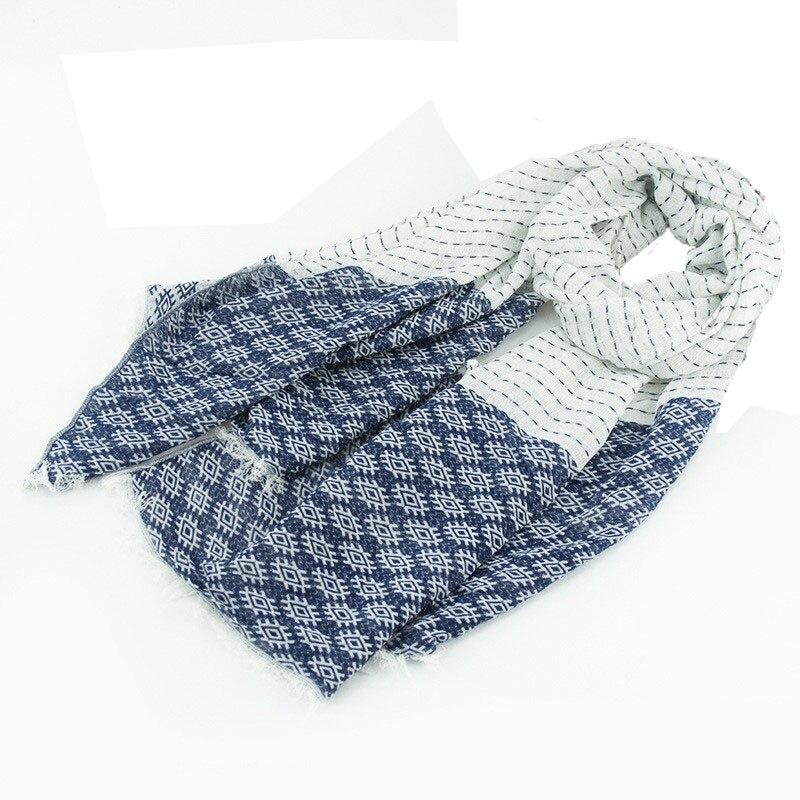 Autumn Winter Jacquard Mens Scarf Women Vintage Patchwork Long Cotton Scarves Stoles Foulard Femme 185cm X65cm Scf8163