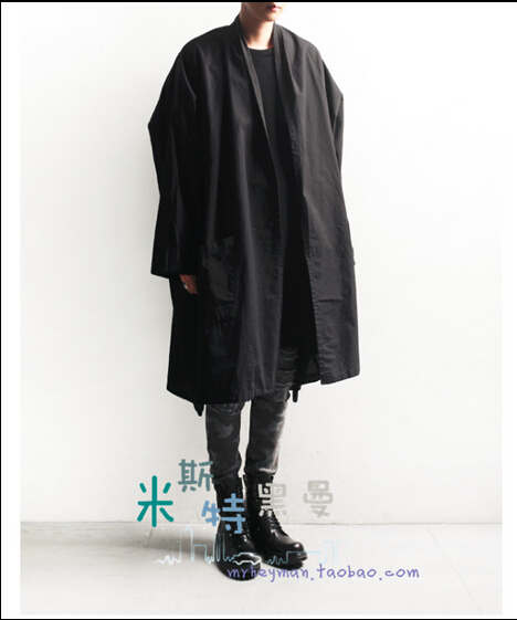 S-6XL!!!In The Taoist Priest Clothing, Japan And South Korea Style Loose Cotton Coat Dust Coat, Long Coat
