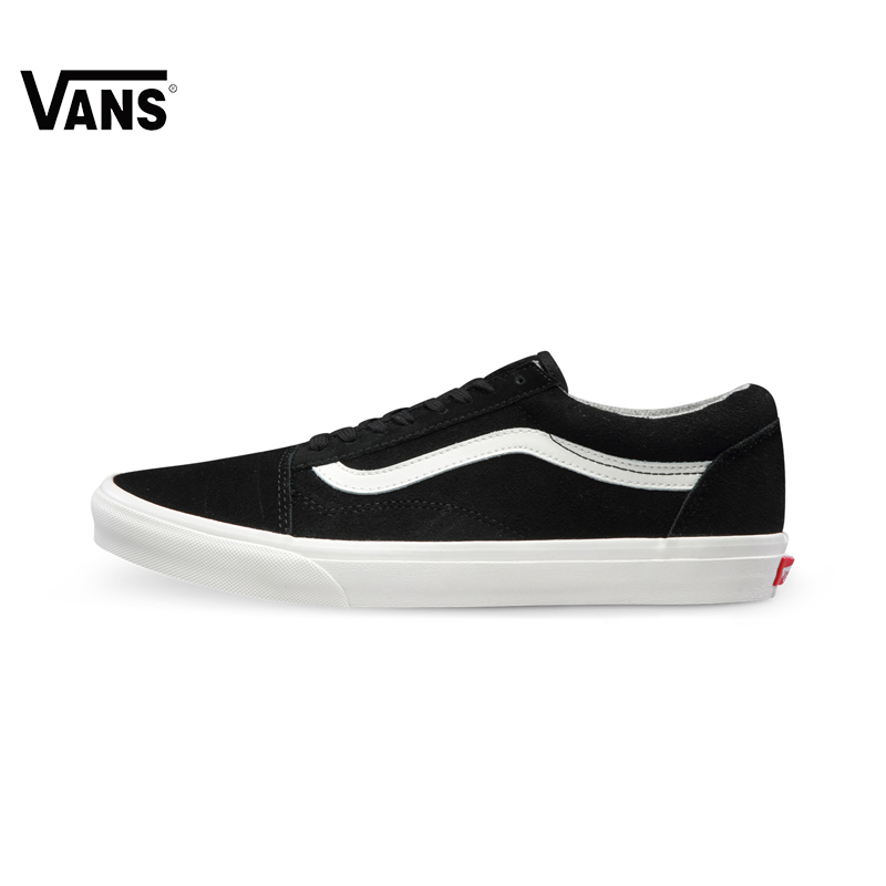 Original Vans Men&Women Shoes Old Skoo Black and White Color Skateboarding Shoes Hard-Wearing Sport Shoes Sneakers Free Shipping