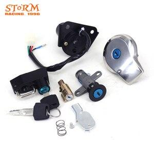 Image 5 - Kit de bouchons de carburant à clé pour moto, interrupteur dallumage, pour siège de direction, pour Yamaha Virago XV125, XV250, XV 125, 250, QJ250 H