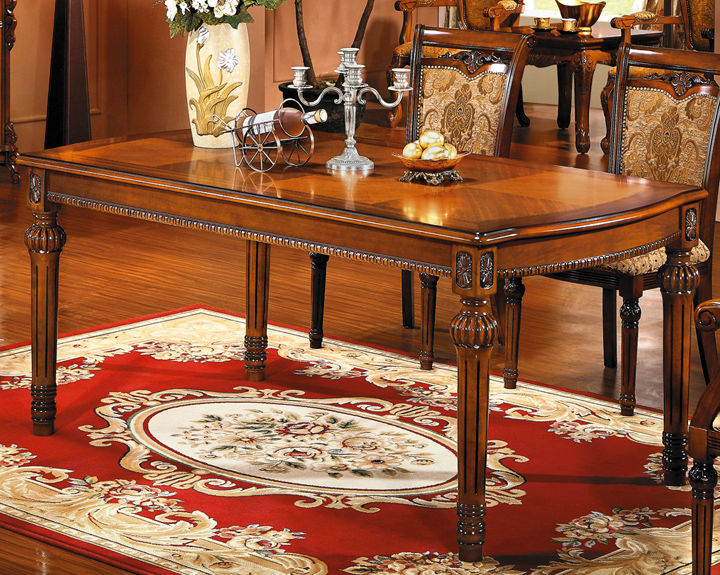 European Style Wooden Modern Dining Table Solid Wood