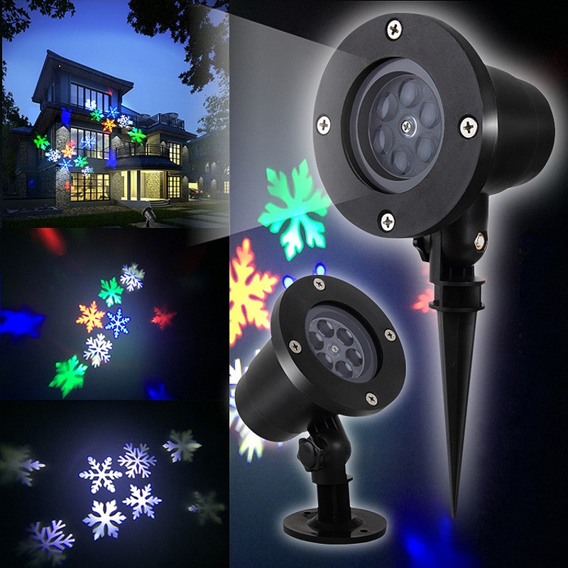 Outdoor Waterproof Snowflake Laser LED Projector Home Garden Lawn Decoration Micro Landscape Christmas Wedding Decoration Gift