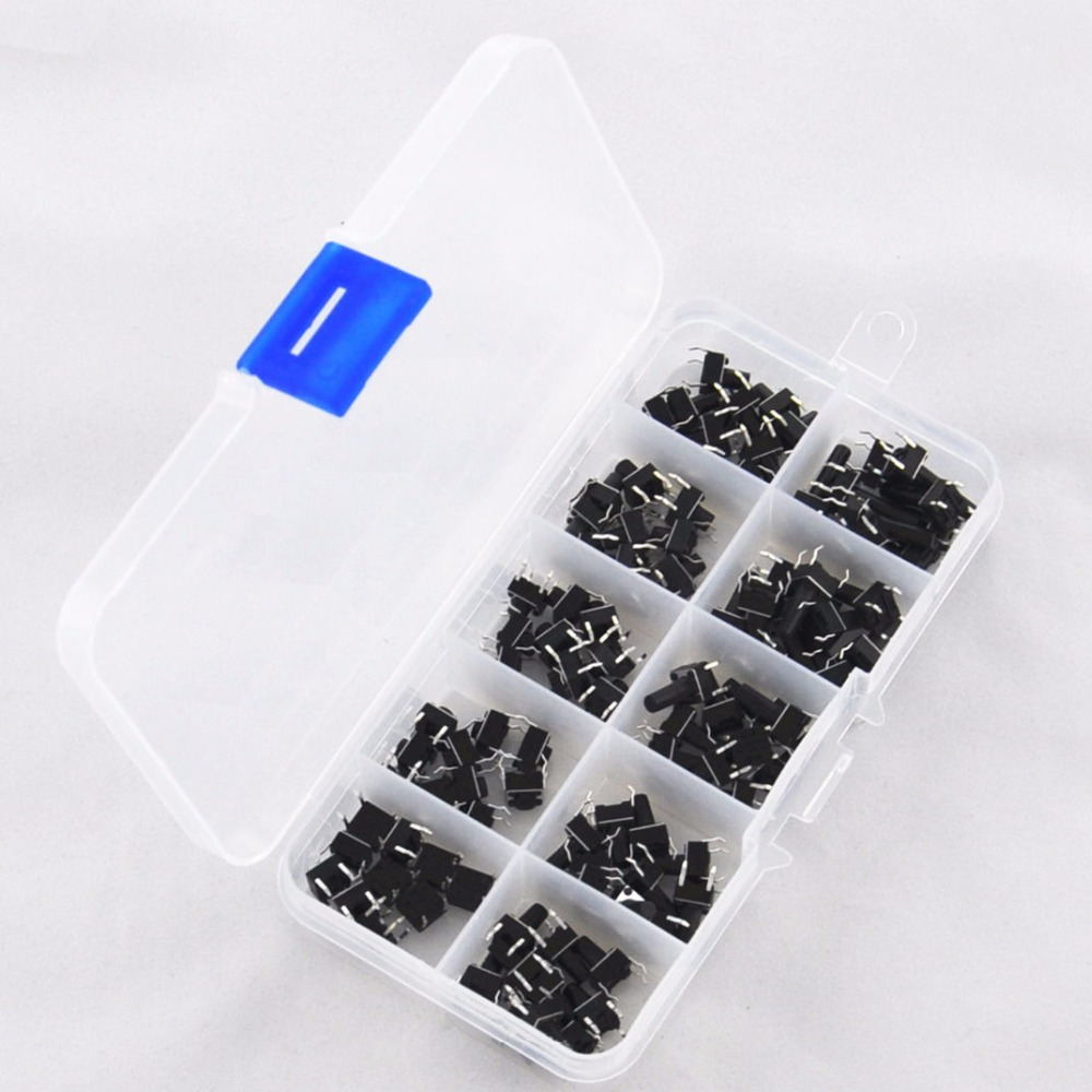 100Pcs 6x6mm Dip 4pin Tactile Push Button Switch 4.3mm 5mm 6mm 7mm 8mm 9mm 10mm 11mm 11.5mm 12mm Tact Kit 50pcs lot 6x6x7mm 4pin g92 tactile tact push button micro switch direct self reset dip top copper free shipping russia