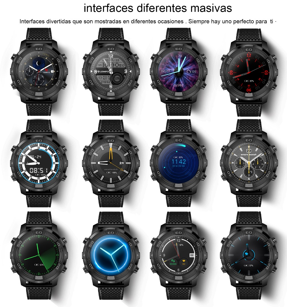 19 LEMFO LEM6 reloj inteligente interfaces