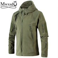 Mwxsd casual men military zipper fleece hoodies and sweatshirt mens solid army thick soft hoodies male cotton outwear hoodies