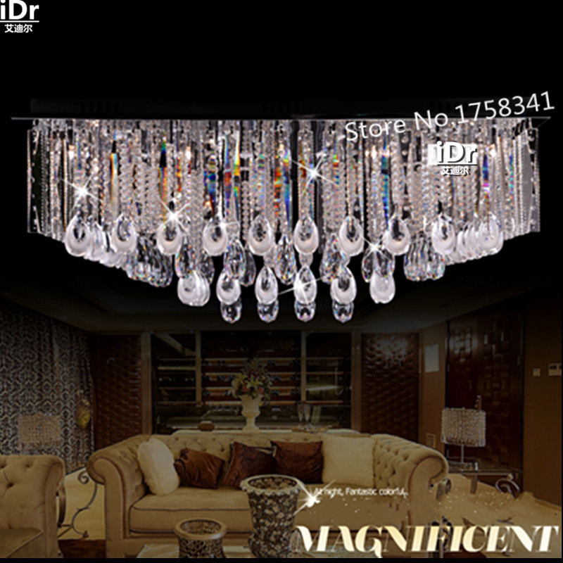 modern high quality crystal ceiling  rectangular LED Bedroom lamp HallCeiling 100% quality assurance   free delivery