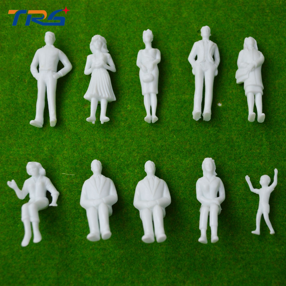 Plastic Miniature Ho Scale Figures Worker In 1 87 And 50
