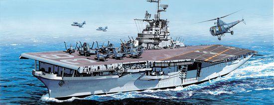 1 700 USS ANTIETAM CV 36 Korean War Essex class angled deck Dragon 7064