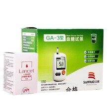 Three Nuozi GA-3 type Blood glucose test strips 50 pcs Test paper +50 Needle опрессовщик voll v test 50 r