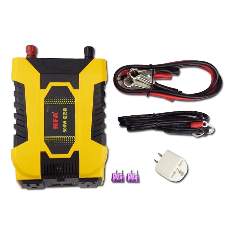 цены NFA car inverter 12V to 220V 500W with USB jack booster 7964NB Y