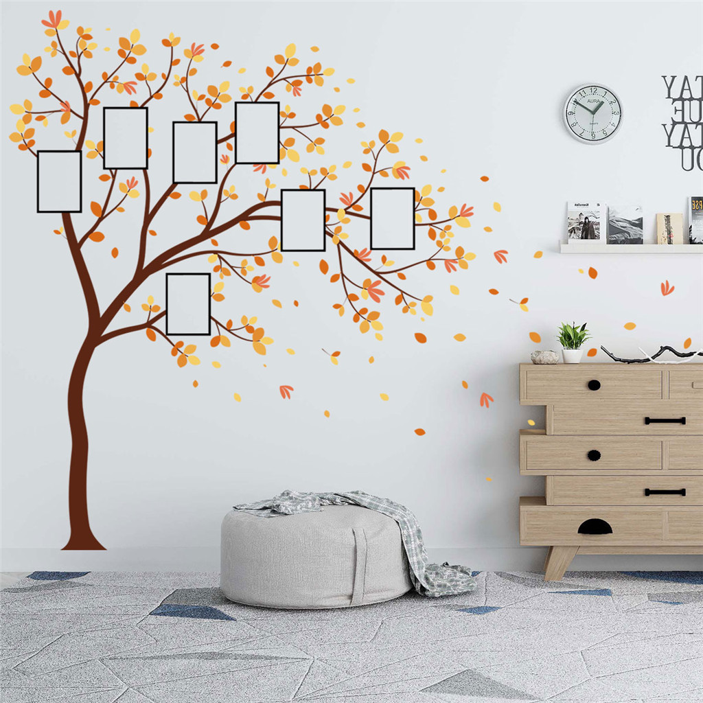 Image 4 - Family Photo DIY Photo Tree Mobile Creative Wall Affixed With Decorative Wall Stickers Window DecorRoom Bedroom Decals Posters-in Wall Stickers from Home & Garden