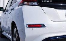 Per Nissan Leaf ZE1 2017 2018 2019 Accessori Per Auto di Coda Posteriore Della Luce di Nebbia Telaio di Copertura Trim Della Lampada Della Nebbia Accessori Styling