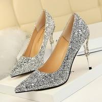 CPI fashion design women's high heel pumps summer see through Party Wedding shoes women thin heels Rhinestone Crystal YJ 144