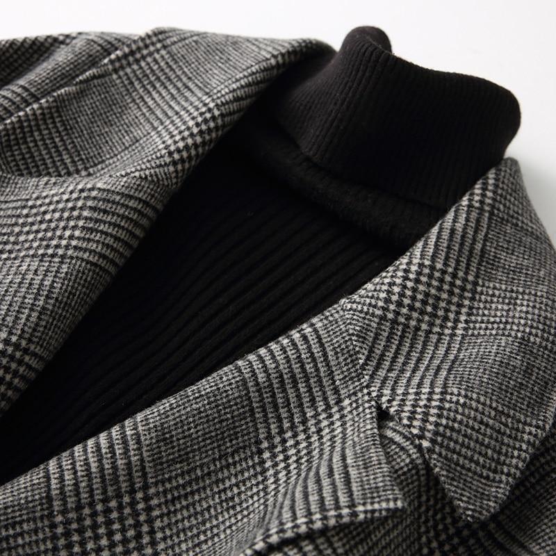 Double Black Vêtements Vestes Automne 88311 Ayunsue Angleterre Pour Style Printemps Nouveau Manteau Femelle Plaid Femmes Hiver Laine Long Wyq1487 face 14IwgFW