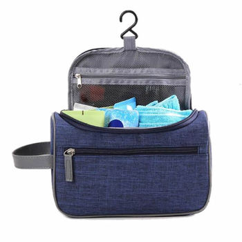 c900e6a49 Casuales de los hombres de bolsa de cosméticos de viaje de la mujer  maquillaje caso hacer organizador de cremallera bolsa de almacenamiento  neceser Wash Kit ...