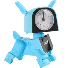 Child Deformation Alarm Clock Robot Lovely Toy Dog Design Mini Cartoon Creative Small Clock Student Desk Table Clock Z727(China)