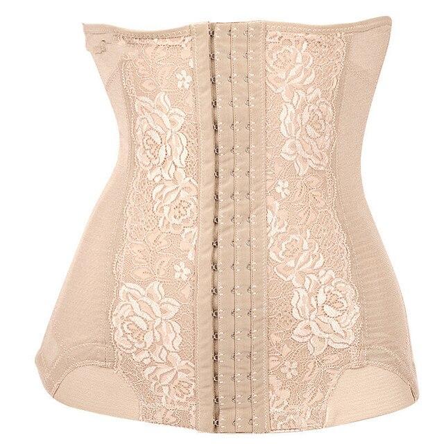 1d179c5694 Hot Shaper Women Waist Trainer Corsets Waist Cincher Abdomen Breathable 3  Breasted Adjustable Control Slimming Belt