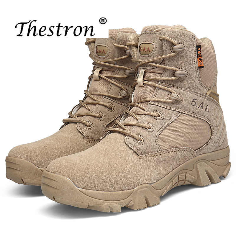 New Winter Autumn Men Military Boots Special Force Tactical Desert Combat Ankle Boots Leather Snow Boots Men Army Work Shoes men military delta special force tactical boots men s army outdoor desert combat boots shoes botas hombre