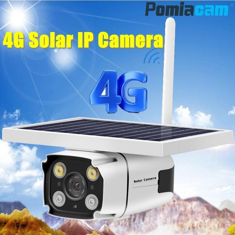 2019 plus récent 4G carte SIM panneau solaire alimenté caméra IP 1080 P caméra de vidéosurveillance de sécurité extérieure avec batterie intégrée capteur PIR YN88