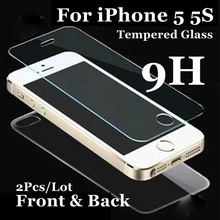 Front and Back For iphone4 5 5S SE Tempered Glass Screen Protector Explosion Proof HD Vision