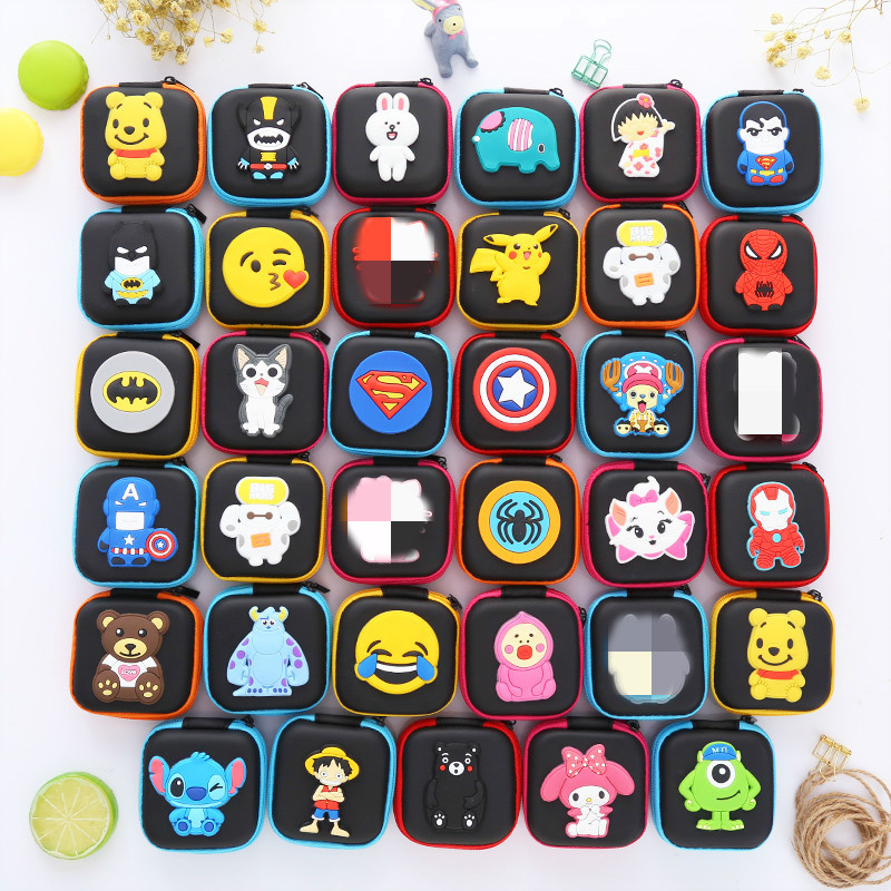 Kids Cartoon 3D Silica Gel Coin Purse Porte Monnaie Femme Monederos Boys Small Bag Square Purses Mini Bag Carteras Coin Wallet