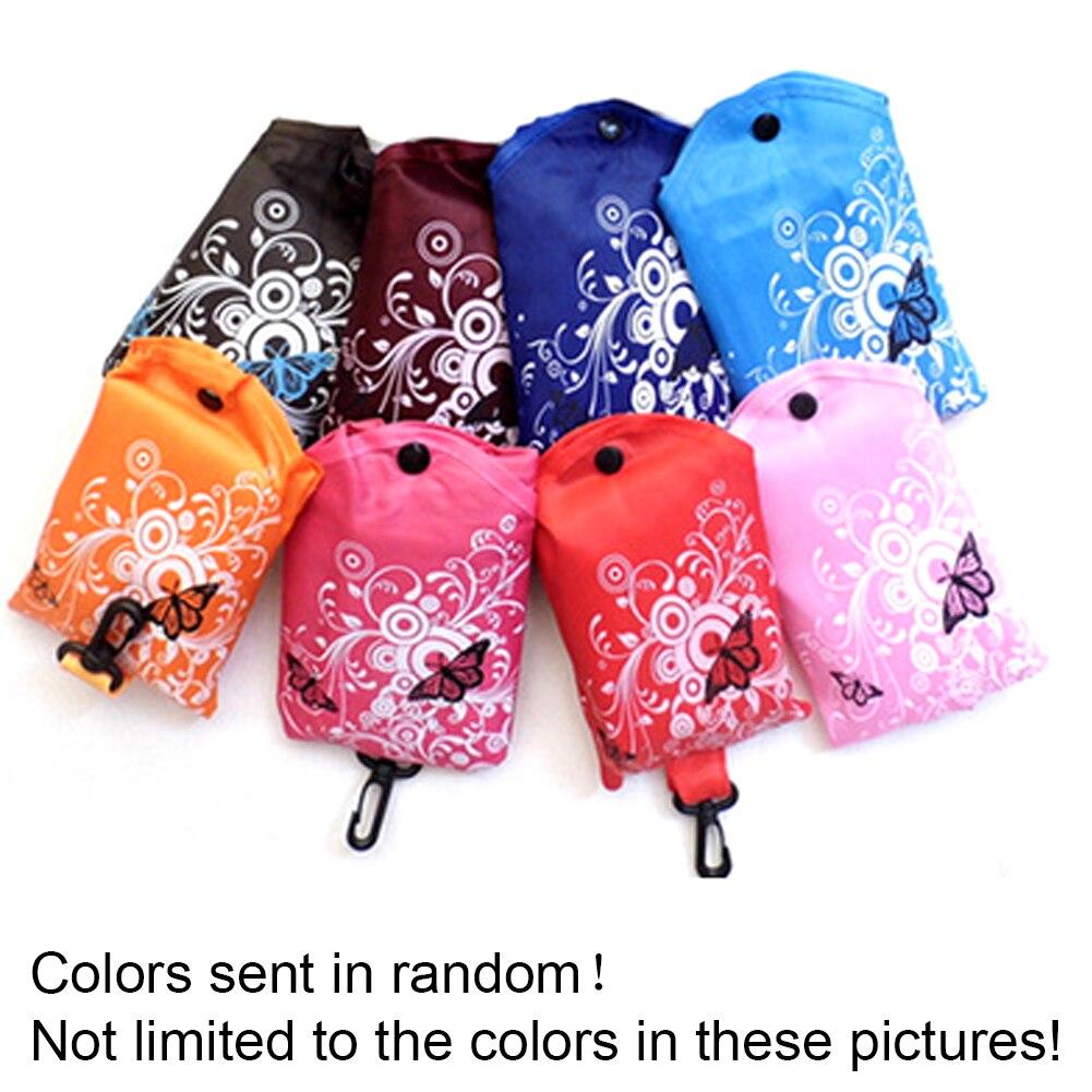 1 Pcs Eco Lagerung Handtaschen Blume Schmetterling Oxford Tuch Faltbare Einkaufstaschen Folding Reusable Organisatoren Tote Tasche 6 Farben Direktverkaufspreis