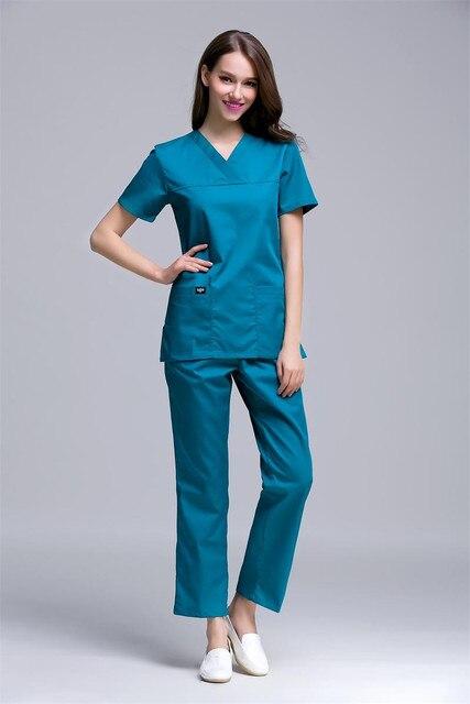 f5c2e2a68 كوريا نمط يتأهل النساء الخامس الرقبة الملابس الطبية مستشفى الأطباء الممرضات  فرك يحدد pet الأسنان عيادة