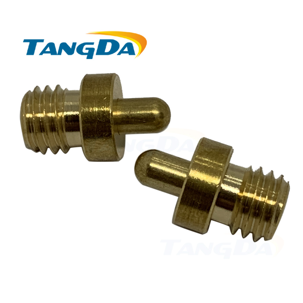 """Tangda pogo pin connector DHL D 10*16.8 Hmm spring 3A No plating 0u"""" gold copper C3604 260g M8 Screw thread-in Connectors from Lights & Lighting    1"""