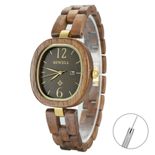 Bewell women black watch girl simple classic watches lady luxury wooden wirst wear 162A
