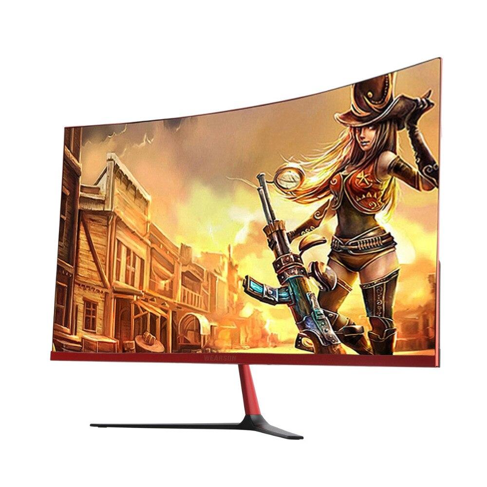 Wearson 3000R 27 pouces Courbe Large Écran LCD moniteur de jeu À La Flexion Panneau 2mm Côté Lunette-Moins HDMI VGA entrée sans scintillement