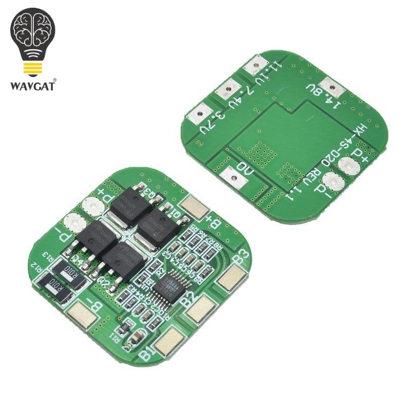 4S 14,8 V/16,8 V 20A пиковая литий-ионная BMS PCM плата защиты батареи bms pcm для литиевых LicoO2 Limn2O4 18650 li батарея
