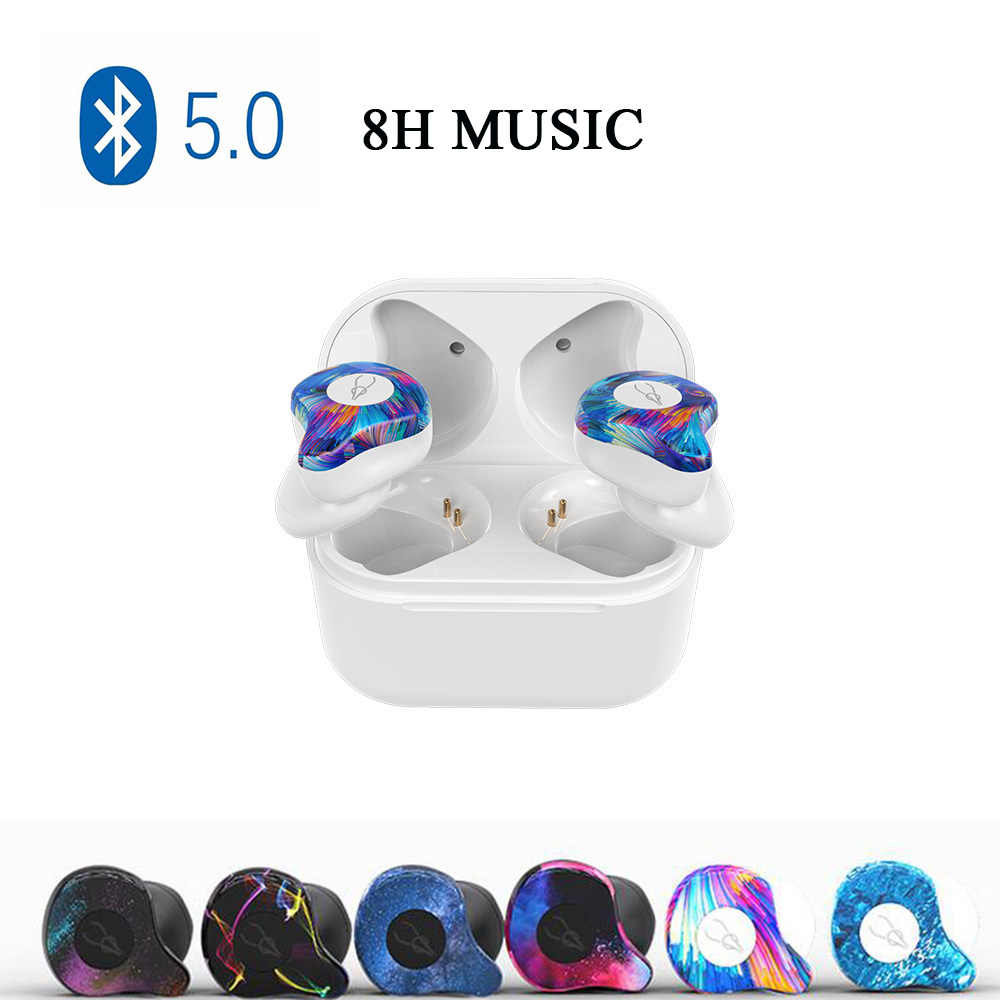 Bluetooth 5.0 Earphone Professional Twins Mini 3D Stereo Sound Invisible True Wireless Waterproof Sport Earbuds with Power bank