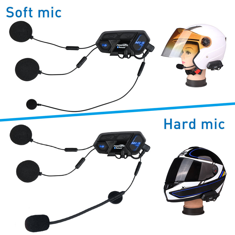 Fodsports 2 Pcs M1 S Pro Motorhelm Intercom Groep 8 Rider Helm Bluetooth Headset Waterdichte Handsfree Interphone Moto - 5