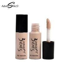 Masro Makeup brand new 3 concept eyes full cover concealer light natural mini comp lip primer foundation base 6ml