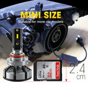 Image 5 - HLXG 6500K 4300K 5000K H7 Led H4 ile ZES cips araba far ampulü H1 LED H11 H8 HB3 9005 HB4 9006 lamba 12V luces led para otomatik