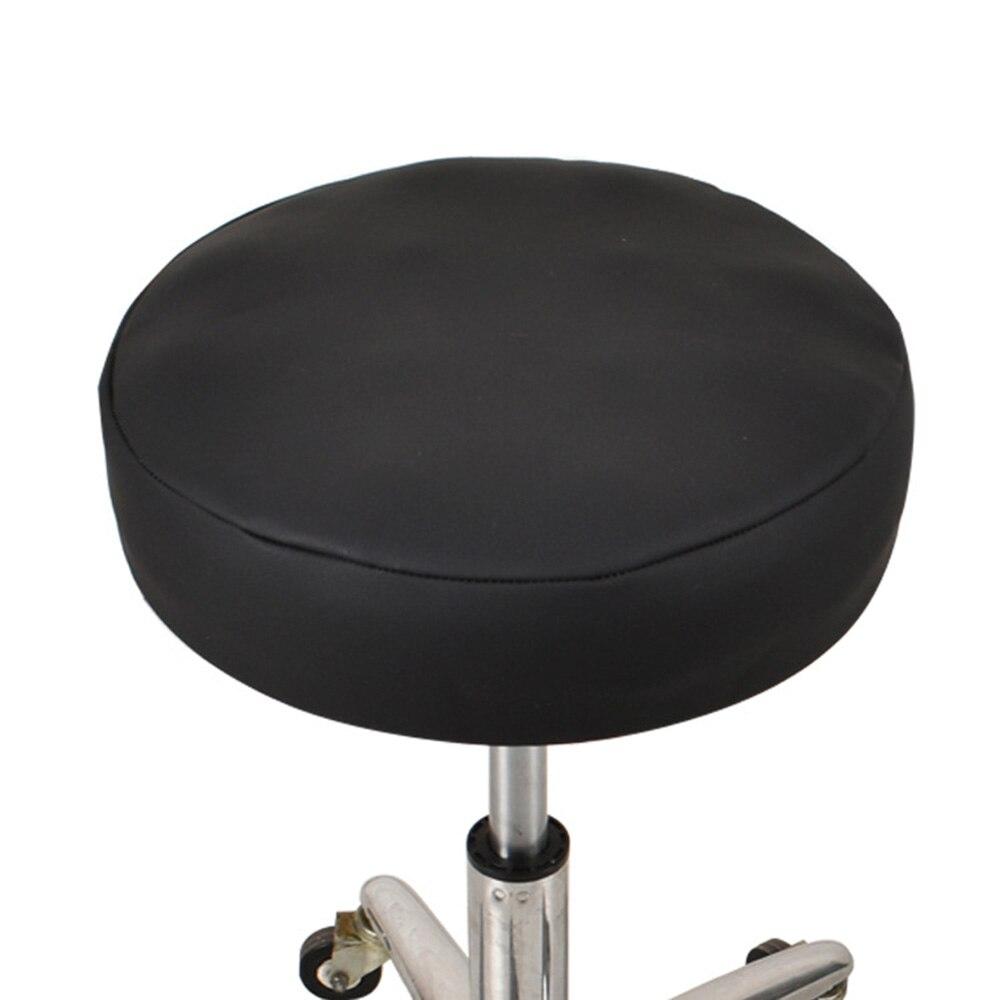 Effen Kleur Stoel Cover Pvc Stretch Elastische Kussenovertrekken Stoelhoezen Dikke Waterdichte Kruk Seat Cover Voor Eetkamer Keuken