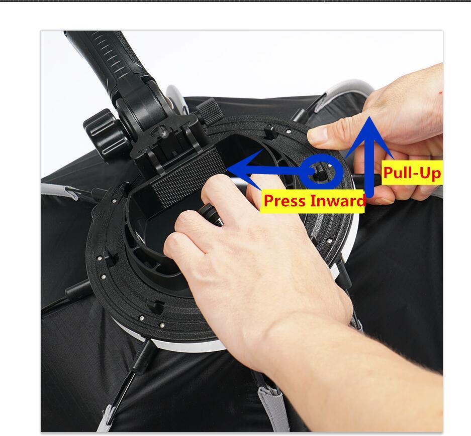 TRIOPO 65cm guarda-chuva softbox octógono portátil externo para - Câmera e foto - Foto 5