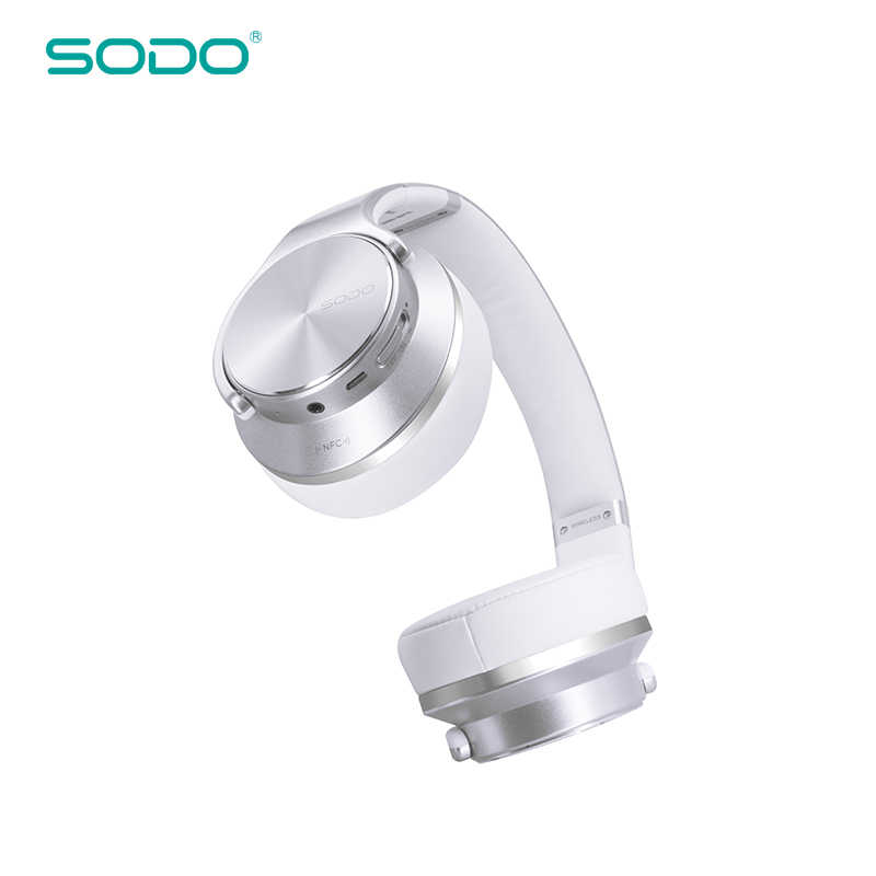 Оригинальный SODO MH5 удобные Беспроводной наушники NFC 2 in1 выкручивающийся bluetooth-динамика наушников с микрофоном для защитный чехол-накладка из ПК и мобильного телефона