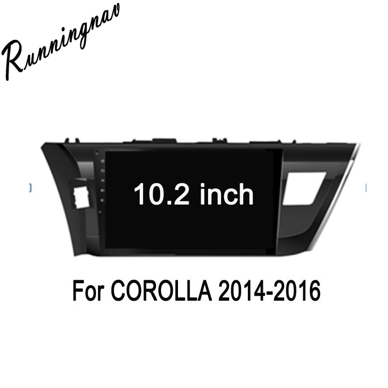 Octa Core 10.2 Android 7.1 For Toyota Corolla 2007 2008 2009 2010 2011 2012 2013 Car Radio DVD player GPS