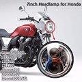 Chrome 7 inch Round LED Motorcycle HeadLight bike Led Lamp Headlight For Hornet 250 600 900 VTEC VTR250 Honda CB400 CB500 CB1300