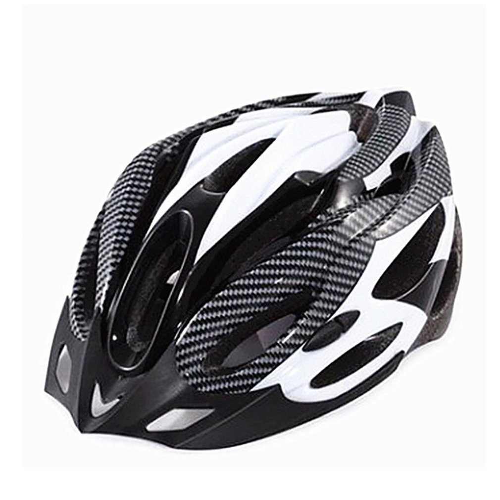 Cycling Helmet Mountain-Bike Carbon-Fiber Safety Head-Cap Breathable Outdoor Hollow