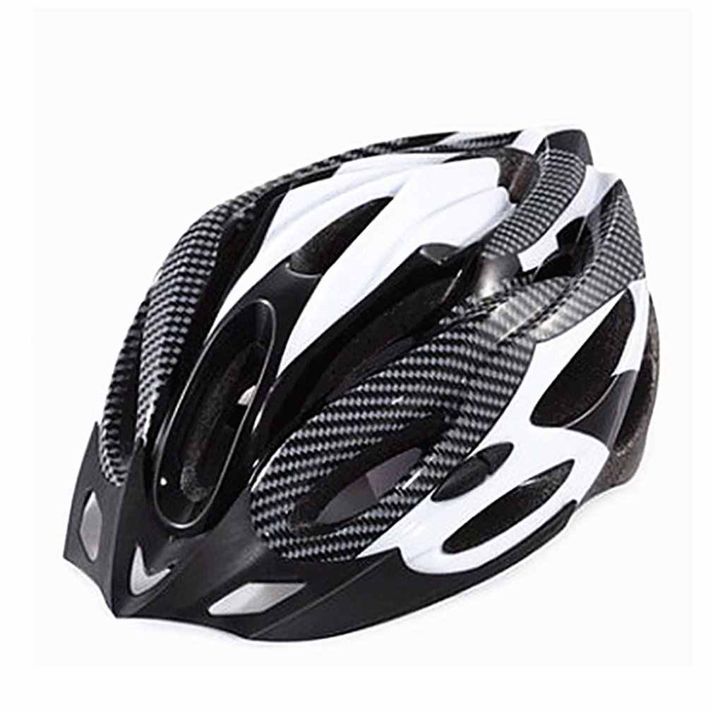Mountain Bike Cycling Helmet Hollow Breathable Mountain Helmet Carbon Fiber Safety Head Cap Outdoor Cycling Helmet