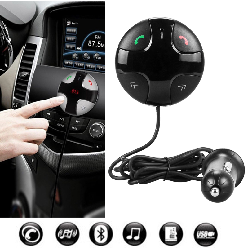 FM Transmitter, Bluetooth FM Transmitter Wireless Car Stereo Radio Adapter, Hands-Free Calling Music Player with 2A USB Car