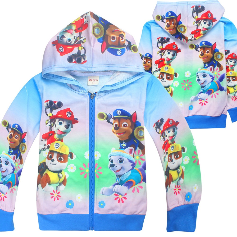 new style 1pcs Chidlren girl's boy's top 2017 Spring Autumn Outerwear dog cartoon coat girl boy 7249 TZ03