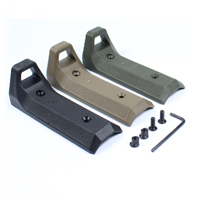 Tactical Hunting Keymod Handguard Hand Stop Cover Rubber Mount For