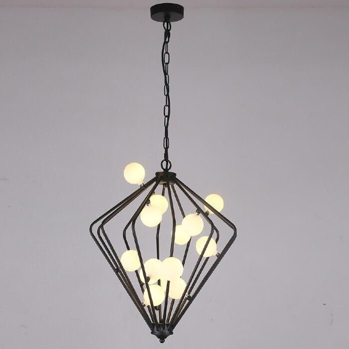 The simple art creative lamp glass ball bubble lamp room iron pendant lights Beanstalk American personality ZH american dj bubble junior купить