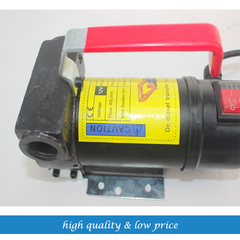 DC12V 35LPM Portable Electric Pump Kerosene Diesel oil pump Self-Priming Pump 550w portable oil pump self priming 220v fuel oil diesel pump with ex motor