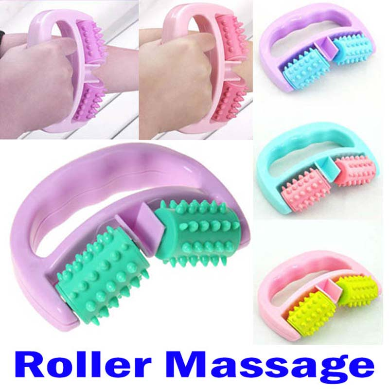 Full Body embossing roller massage Cellulite Control Roller Massager Thigh Body Slimming Health Beauty Hand-held Wheel Home Use