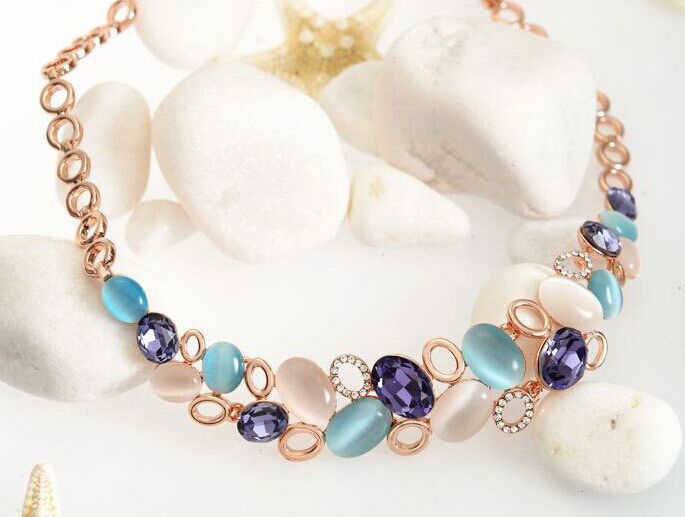 MISANANRYNE Women's Gold Color Austrian Crystal Classic Necklace Bracelet Earrings Ring Wedding Jewelry Sets Women Gift