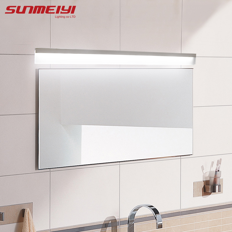 Modern led mirror light waterproof wall lamp fixture AC85-220V Acrylic wall mounted bathroom lighting decoration Sconce